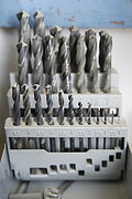 Germany, Upper Bavaria, Schaeftlarn, Variety of drill bits, close up