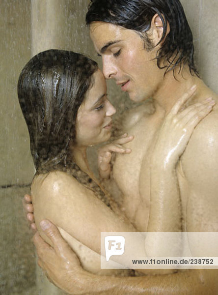 couples naked in shower