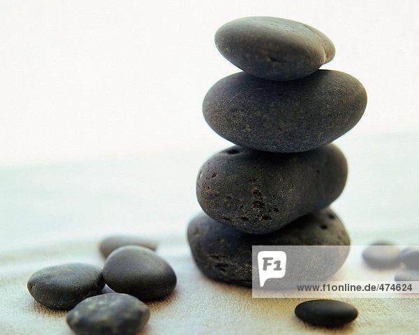 Nahaufnahme Pebbles-Stacks