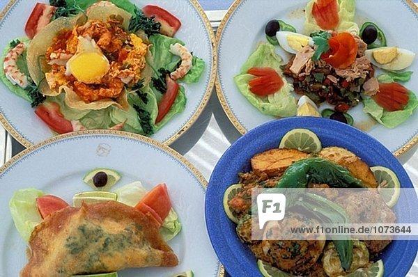 traditionelle tunesische k che jerba couscous brik salat mechouia ojja garnelen tunesien. Black Bedroom Furniture Sets. Home Design Ideas
