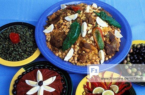 Tunesische Küche | Traditionelle Tunesische Kuche Couscous Tunesien