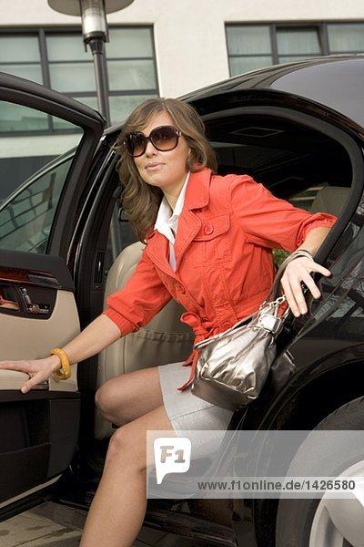 Minirock Im Auto