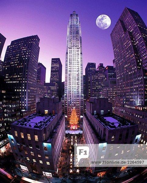 weihnachten rockefeller center midtown manhattan new york. Black Bedroom Furniture Sets. Home Design Ideas