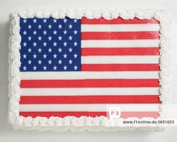 Festliche torte mit usa flaggen deko zum 4th of july for Amerikanische deko