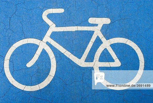 gemaltes fahrrad