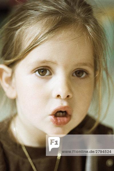 Mädchen Mund