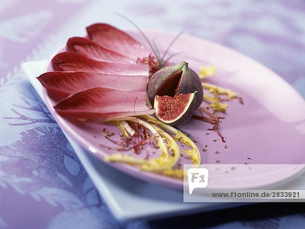 Chicorée und Fig rot salate