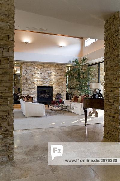 moderne wohnzimmereinrichtung lizenzfreies bild bildagentur f1online 2876380. Black Bedroom Furniture Sets. Home Design Ideas
