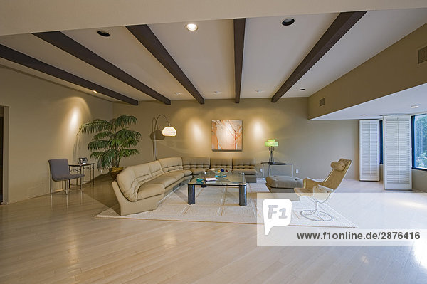 moderne wohnzimmereinrichtung lizenzfreies bild bildagentur f1online 2876416. Black Bedroom Furniture Sets. Home Design Ideas