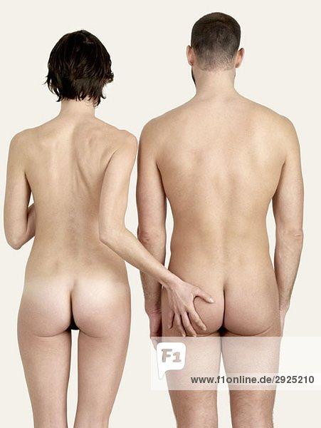 mann nackt posieren, frau