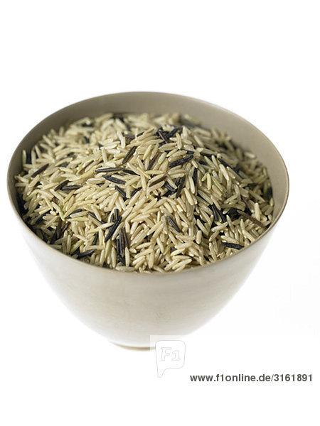 Schüssel mit Wild und Basmati-Reis