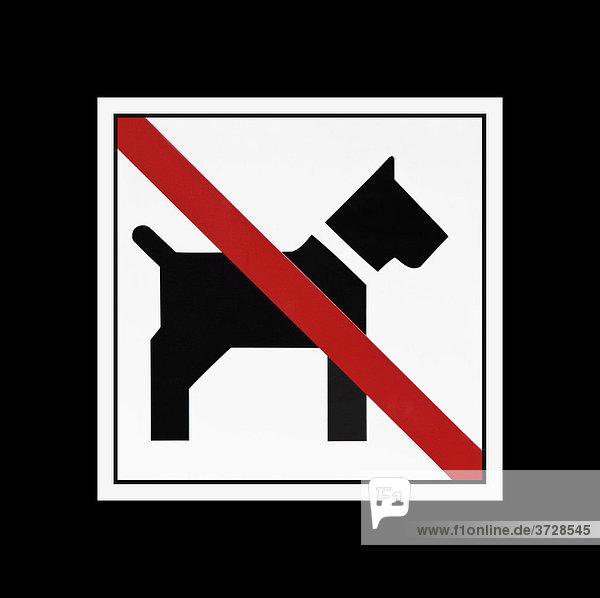 schild keine hunde zutritt f r hunde verboten lizenzfreies bild bildagentur f1online 3728545. Black Bedroom Furniture Sets. Home Design Ideas