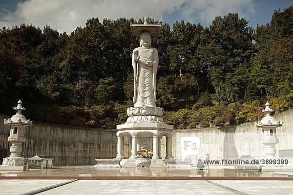 buddha statue im tempel bongeunsa in der koreanischen hauptstadt seoul s dkorea asien. Black Bedroom Furniture Sets. Home Design Ideas