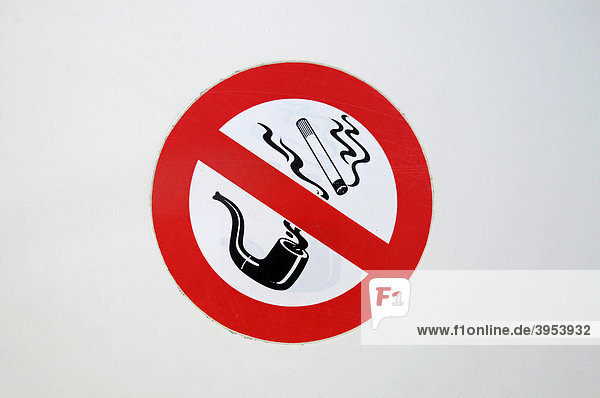 rauchen verboten pfeife zigaretten schild. Black Bedroom Furniture Sets. Home Design Ideas