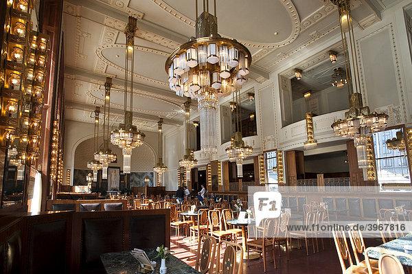 Jugendstil cafe im gemeindehaus prag tschechische republik europa lizenzpflichtiges bild - Jugendstil innenarchitektur ...
