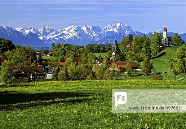 Alpenpanorama Bayern Deutschland Europa Oberbayern
