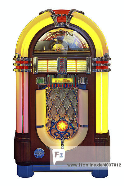 wurlitzer one more time 1015 nachbau f r cd jukebox musikbox lizenzpflichtiges bild. Black Bedroom Furniture Sets. Home Design Ideas