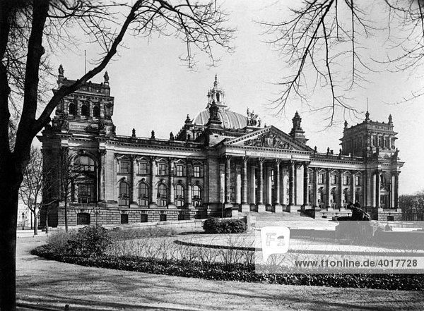 berlin ca 1930 deutschland historische aufnahme reichstag lizenzpflichtiges bild. Black Bedroom Furniture Sets. Home Design Ideas