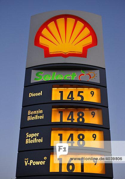 Die Berechnung für das Benzin in rk