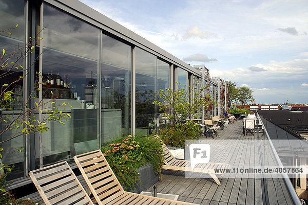 Bayern dachterrasse zum blue spa bereich deutschland for Bayern design hotel