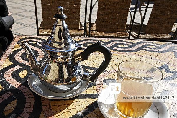 Afrika marokko marrakesch medina marokkanische teekanne for Marokko tisch