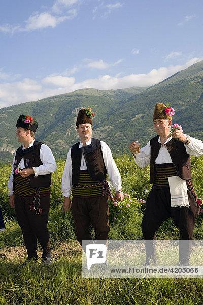 Trachtengruppe, Rosenfest, Karlovo, Bulgarien