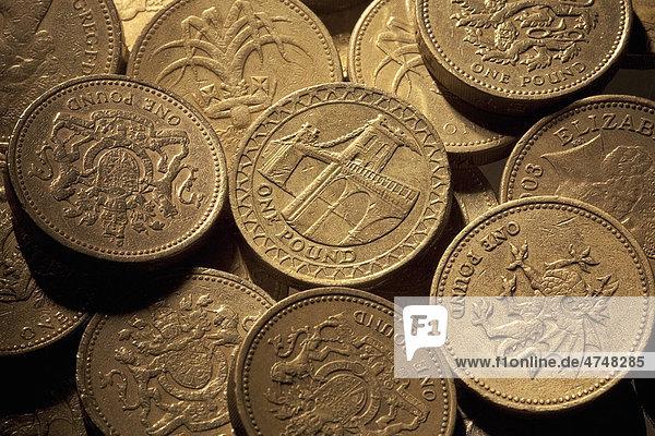 Britische Währung Münzen