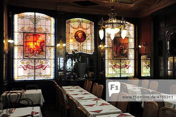 Belgien benelux bleiglasfenster in der kneipe br ssel - Mobel jugendstil merkmale ...