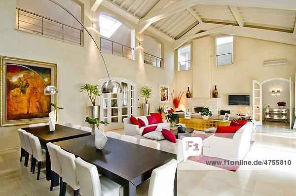 Moderne wohneinrichtung wohnzimmer lizenzpflichtiges bild bildagentur f1online 4755810 - Moderne wohneinrichtung ...