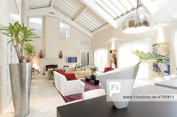 Moderne Wohneinrichtung, Wohnzimmer - Lizenzpflichtiges ...