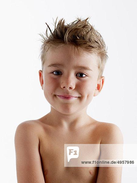 Nackter Oberkörper Teen Boy Bild