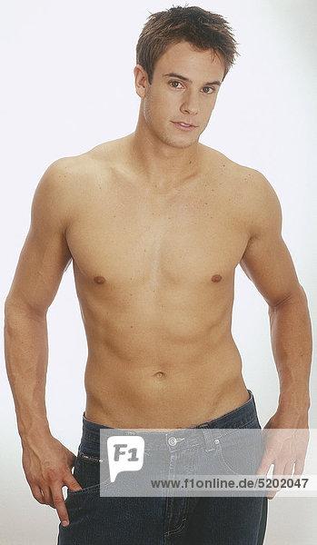 Mann, Nackter Oberkörper - Lizenzfreies Bild - Bildagentur