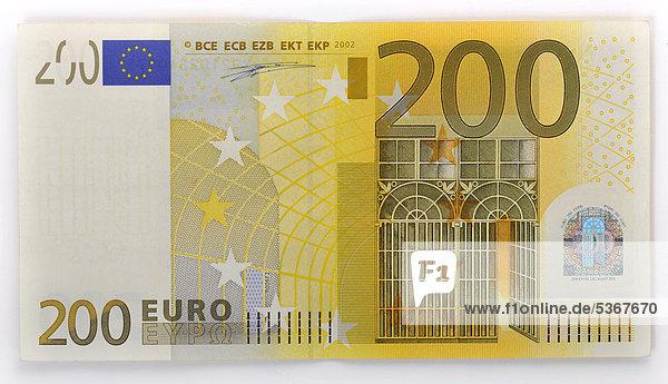 200 euro geldschein banknote vorderseite for Wohnwand 200 euro