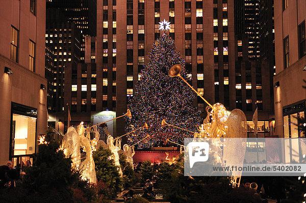 amerika dekoration manhattan new york rockefeller center rockefeller plaza usa weihnachten. Black Bedroom Furniture Sets. Home Design Ideas