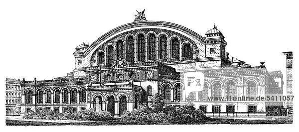 1889 19 jahrhundert anhalter bahnhof aus meyers for Mobel 19 jahrhundert