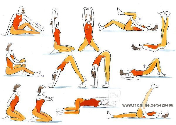 gymnastische Übungen - Lizenzpflichtiges Bild - Bildagentur ...