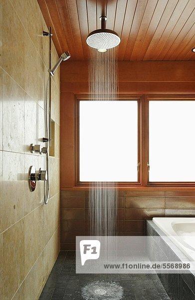 badezimmer dusche offen lizenzfreies bild bildagentur f1online 5568986. Black Bedroom Furniture Sets. Home Design Ideas