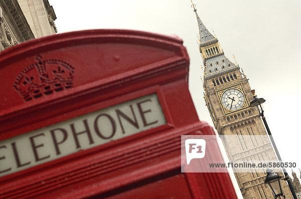 england europa gro britannien london big ben und rote telefonzelle lizenzpflichtiges bild. Black Bedroom Furniture Sets. Home Design Ideas