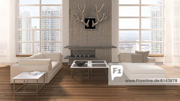 3d illustration couchtisch eichendielenboden. Black Bedroom Furniture Sets. Home Design Ideas