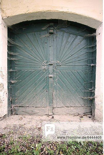 Doppeltür außen  alt,Aussen,Doppeltür,Eingang,Farbe,Gebäudedetail ...