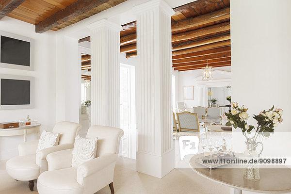 zimmer s ule reichtum wohnzimmer lizenzfreies bild bildagentur f1online 9098897. Black Bedroom Furniture Sets. Home Design Ideas