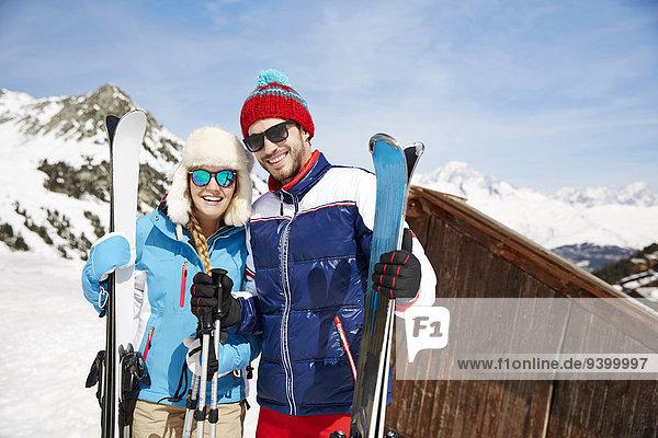 Zusammenhalt,Berg,Ski,halten