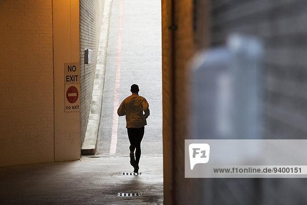Mann,Straße,rennen,Großstadt