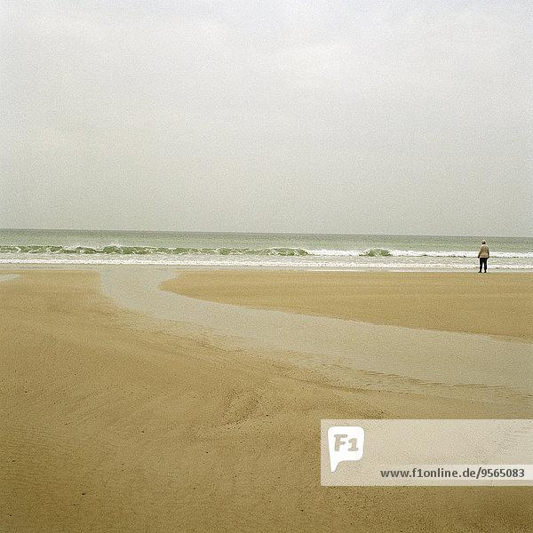 stehend,Strand,Mensch
