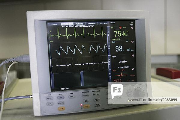 Bildschirm,Elektrokardiogramm,sichtschutz