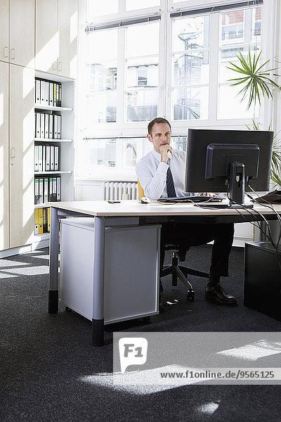 Geschäftsmann,arbeiten,Büro