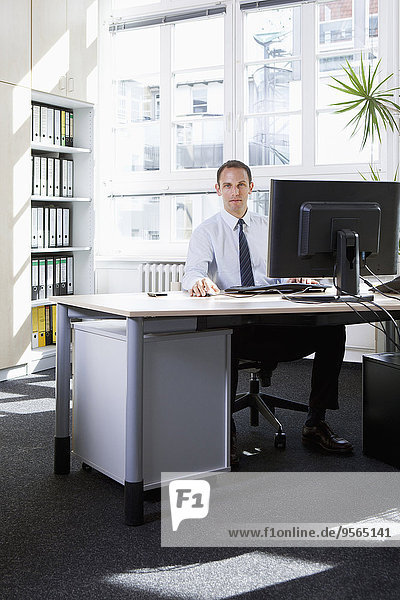 Computer,Geschäftsmann,arbeiten,Büro