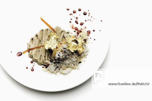 Essgeschirr,geben,über,weiß,Hintergrund,Teller,Dekoration