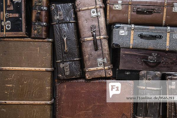 Koffer,schießen,voll,alt