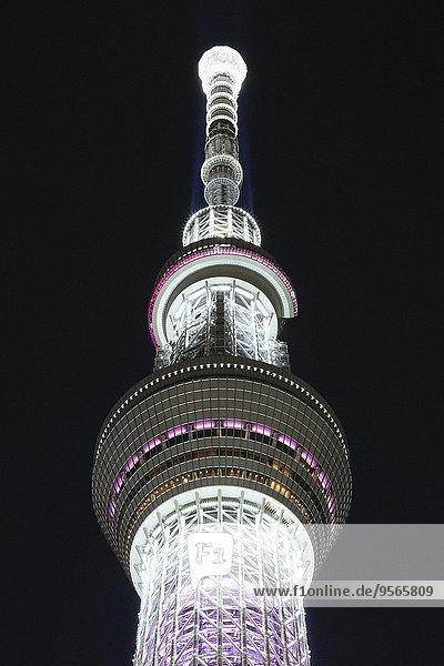 niedrig,beleuchtet,Nacht,Himmel,Tokyo,Hauptstadt,Ansicht,Flachwinkelansicht,Winkel